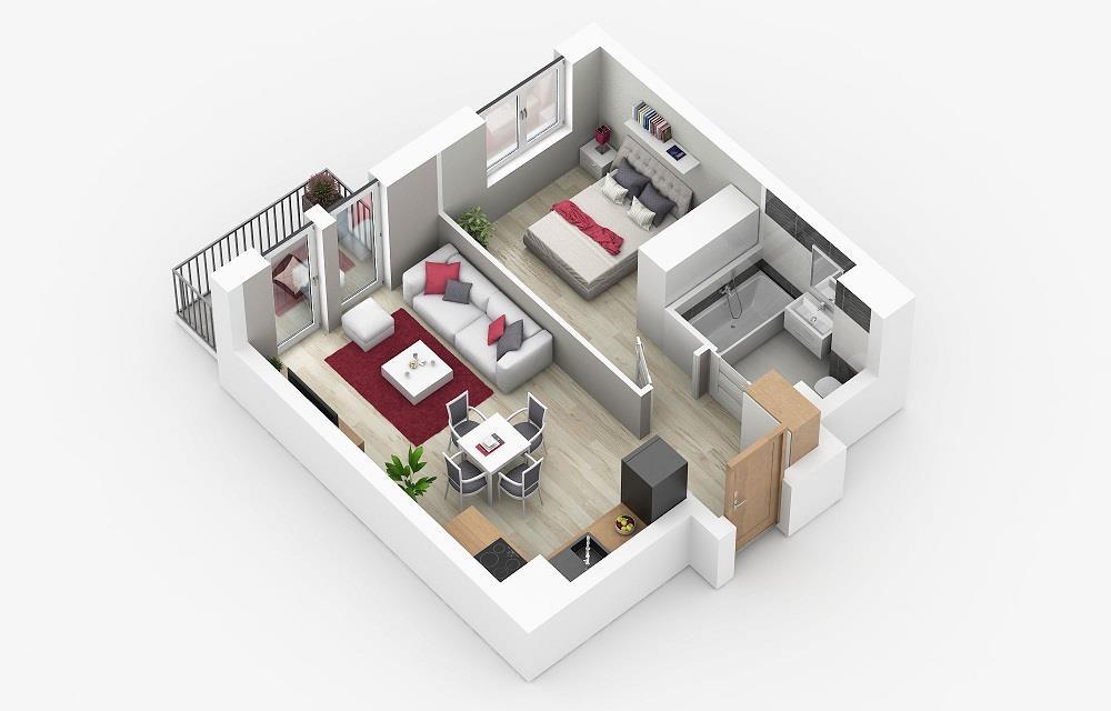 Rzut mieszkania: 4.A.46