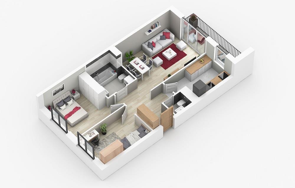 Rzut mieszkania: 4.B.67