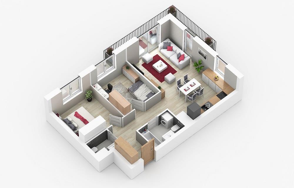 Rzut mieszkania: 4.C.117