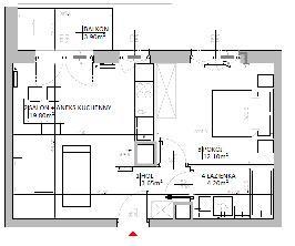 Rzut mieszkania: 2.B.47