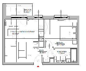 Rzut mieszkania: 3.B.55