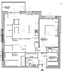 Rzut mieszkania: 3.C.109