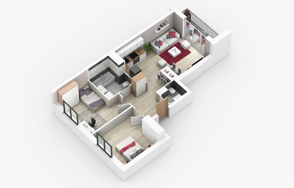 Rzut mieszkania: 4.A.39