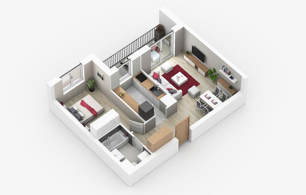 Rzut mieszkania: 4.C.114