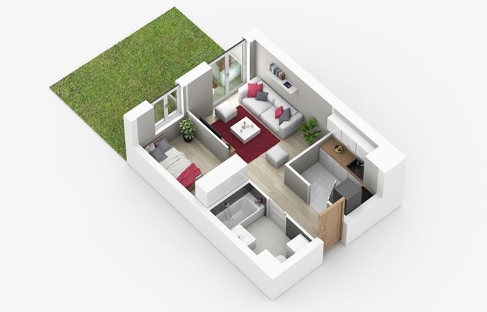 Rzut mieszkania: 0.C.80