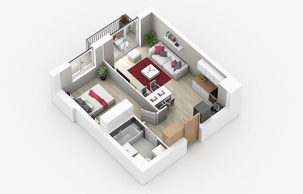 Rzut mieszkania: 4.A.42