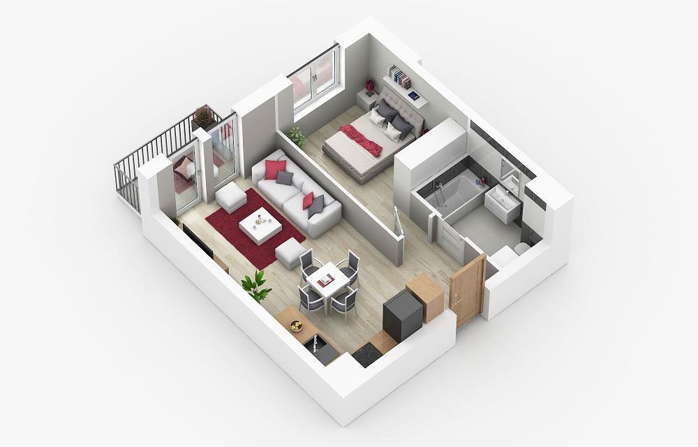 Rzut mieszkania: 1.A.13