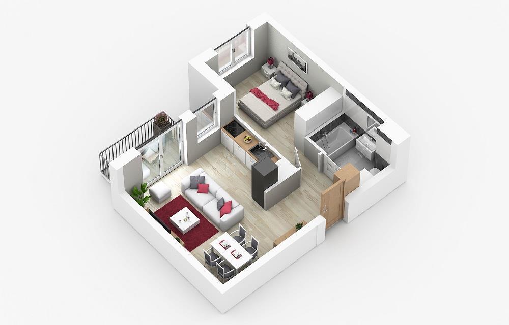 Rzut mieszkania: 3.C.103