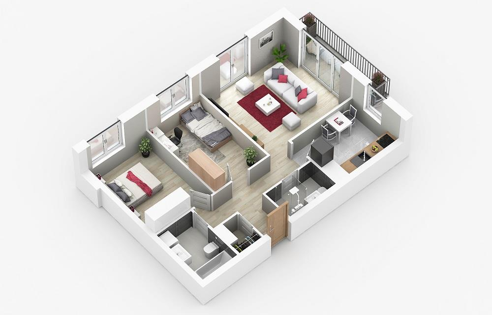 Rzut mieszkania: 4.C.112