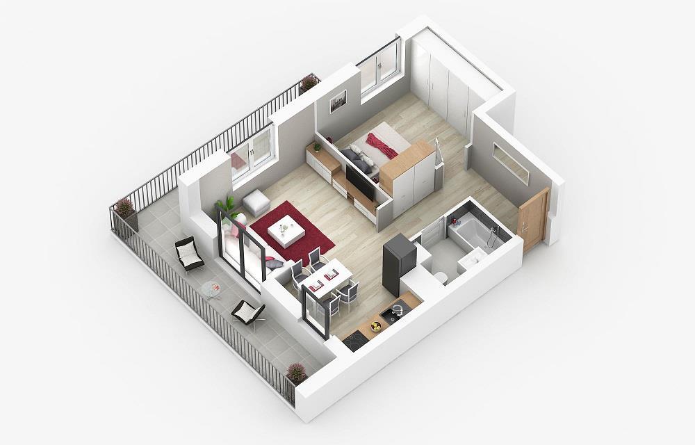 Rzut mieszkania: 1.A.7