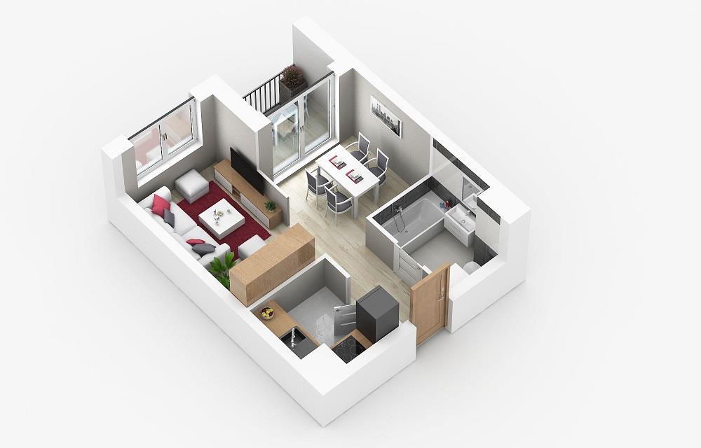 Rzut mieszkania: 3.A.29