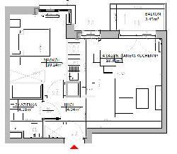 Rzut mieszkania: 2.B.44