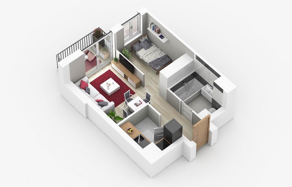 Rzut mieszkania: 1.C.85
