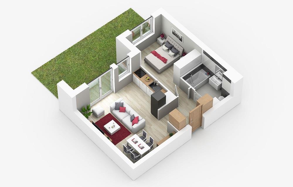 Rzut mieszkania: 0.A.2
