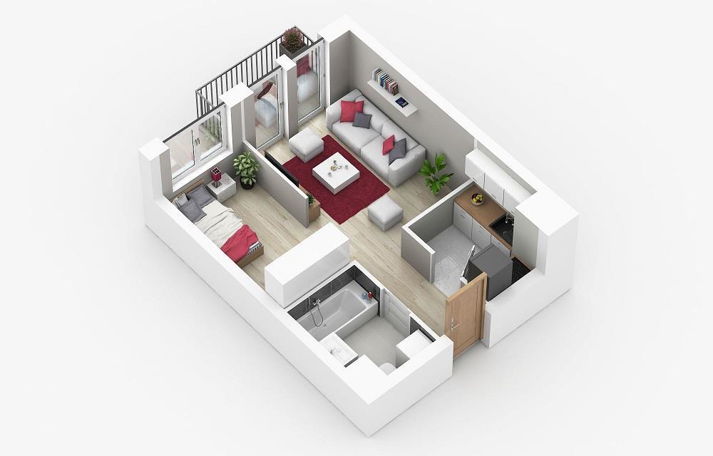 Rzut mieszkania: 4.A.48