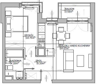 Rzut mieszkania: 4.C.115