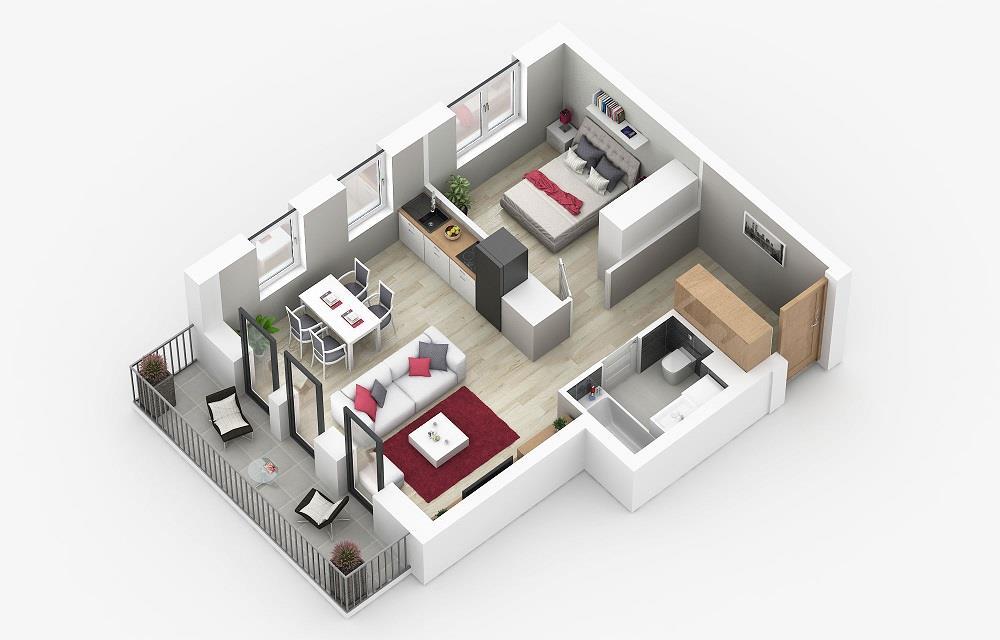 Rzut mieszkania: 2.A.20