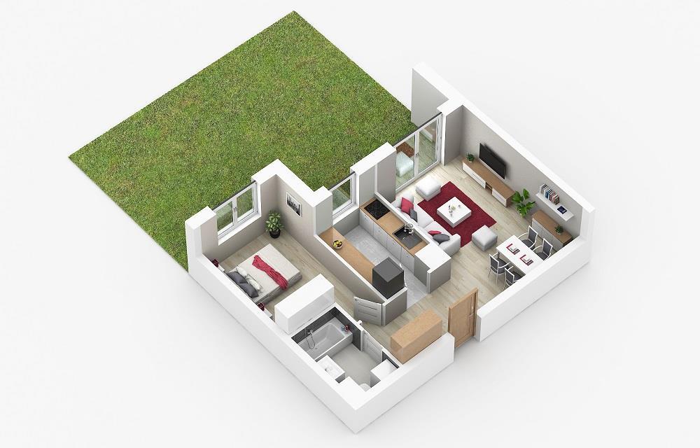 Rzut mieszkania: 0.C.74