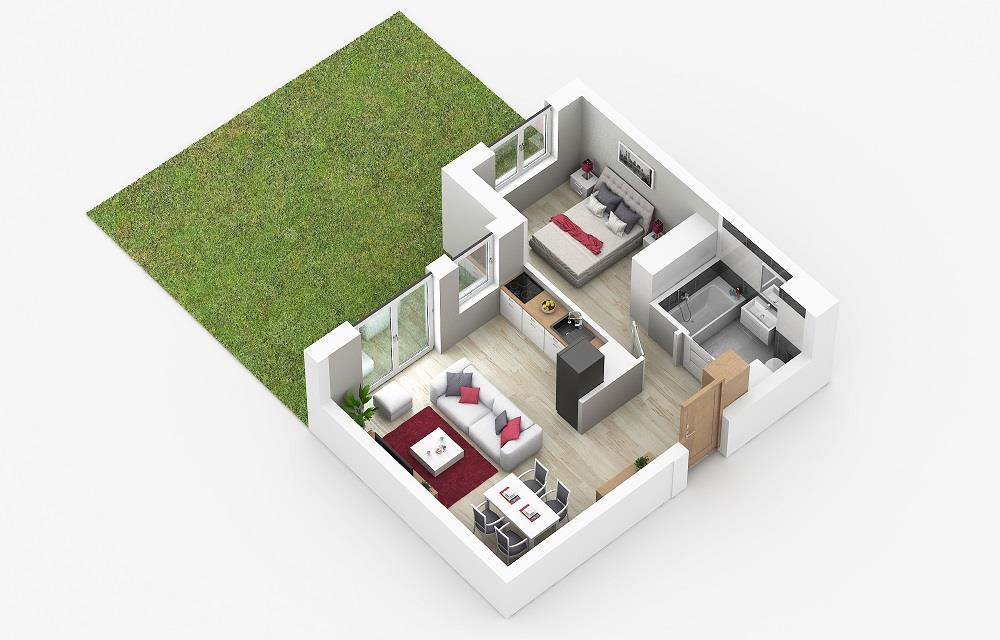 Rzut mieszkania: 0.C.73