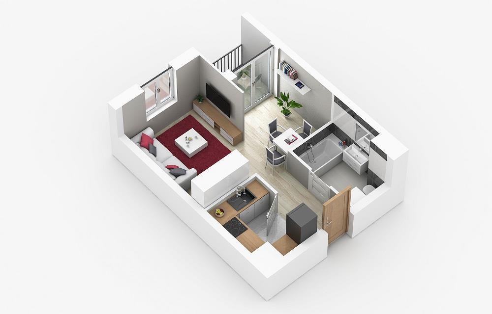 Rzut mieszkania: 1.C.89